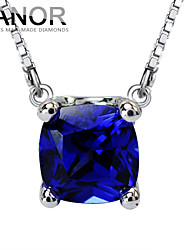 Women's Sterling Silver Necklace With 1 Carat Tanzanite