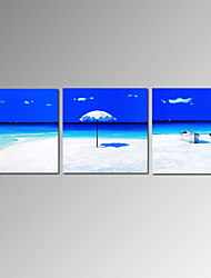 VISUAL STAR®Modern Group Seascape Beach Canvas Oil Painting Ready To Hang