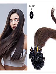 """18 """"-28"""" brésilien ongles hair / vierge pré-collé droite en U extension de cheveux 1g / s 100g / pc 1pc / lot en stock"""