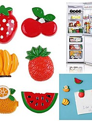 Set of 6 Refrigerator magnets Fruits Vegetables Magnet Sheet (Random Color)