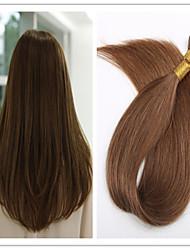 3pcs / lot cheveux 1g / s 100g / pc bâton / i basculer cheveux vierges humaine extension de cheveux tout droit brésilien pré-collé en