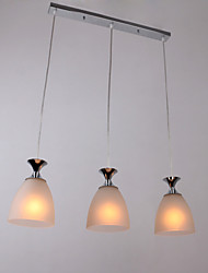 Max 60W Modern/Contemporary / Island Mini Style Chrome Pendant Lights Living Room / Dining Room