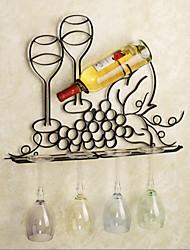 e-FOYER de décoration murale d'art de mur en métal, casier à vin décoration murale un pcs
