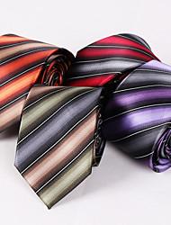 Cravates ( Vert/Violet/Orange/Bourgogne , Polyester ) Rayures