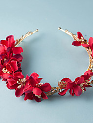 Red Flowers Wedding/Party Bridal Headpieces/Headbands