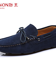 Men's Shoes Office & Career/Casual/Party & Evening Suede Boat Shoes Blue/Yellow/Burgundy