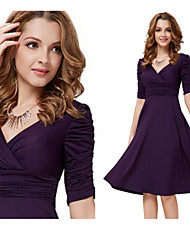 VICONE Women's Vintage/Sexy/Bodycon/Cute/Party V-Neck ½ Length Sleeve Dresses