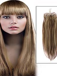 1pc / lot 22inch / 55cm 100s / Packung 0,5 g / s multi gerade Mikro-Ring Haarverlängerung grade5a Menschenhaarverlängerung