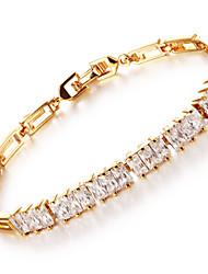 OPK®AAA Zircon Ms Vacuum Plating 18 K Gold High-grade Bracelet