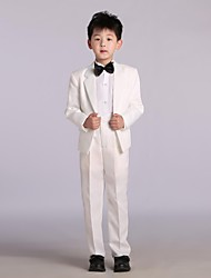 Cotton / Satin Ring Bearer Suit - 4 Pieces Includes  Jacket / Shirt / Pants / Bow Tie