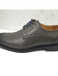 Men's Shoes Wedding/Office & Career/Party & Evening/Casual Leather Oxfords Gray