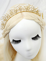 Women/Flower Girl Alloy/Imitation Pearl Headbands With Imitation Pearl Wedding/Party Headpiece