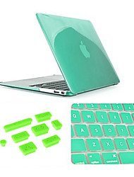"3 in 1 Crystal Case with Keyboard Cover and Silicone Dust Plug for Macbook Air 13.3"" (Assorted Colors)"