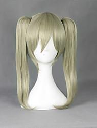 Parrucche Cosplay Mangiatore di anime Maka Albarn Giallo Medio Anime Parrucche Cosplay 45 CM Tessuno resistente a calore Uomo / Donna