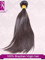 """1pcs / lot 12 """"-30"""" brasileiro do cabelo virgem escuro reta extensões de cabelo humano cabelo sedoso marrom tece"""