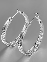 2015 Hot Selling Products 2015 Italy Style Silver Plated Africa Design Hoop Earrings Fashion Fine Accessories