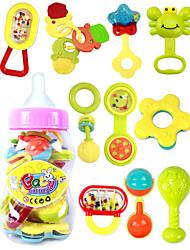 chocalhos de bebê, novo adorável bebê brinquedos de plástico aperto de mão anel de Bell chocalhos brinquedos, embalagem frasco de