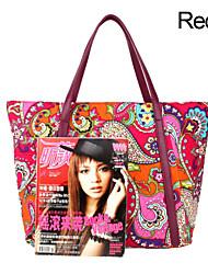comprador de poliéster bolsa de viagem bolsa das mulheres - roxo laranja mulheres bolsa vermelha esporte ao ar livre saco de armazenamento