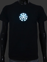 batterie rechargeable incluse lumière jusqu'à dirigée el t-shirt Iron Man 2 sonore réglable activé et plusieurs modes de flash