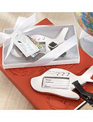 Etiquette de bagage(Blanc)Thème de plage Thème asiatique Thème classique Thème de conte de fées-Non personnalisée 12.5*7.5*2 cm Acier inox