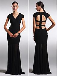 ts Couture® robe de soirée formelle - belle retour, plus la taille / gaine petite / colonne v-cou-parole longueur mousseline