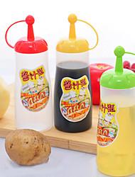 condimento óleo molho de garrafa de apertar ketchup mostarda com tampa de plástico (cor aleatória)
