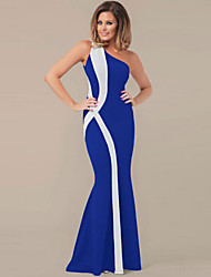 Women's Sexy Beach Casual Party One-shoulder Maxi Dress