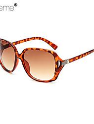 Sonnenbrillen mujeres's Modisch überdimensional Leopard Sonnenbrillen Vollrandfassung