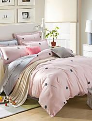 Pink Cotton King Duvet Cover Sets