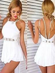 Women's Straps Lace Jumpsuit , Lace/Polyester Sexy/Lace Sleeveless summer
