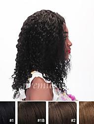 """12 """"-22"""" economici indiani vergini capelli ondulati 100% dei capelli umani parrucche piene del merletto con i capelli del bambino"""