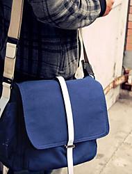 Men 's Canvas Messenger Shoulder Bag - Blue/Gray