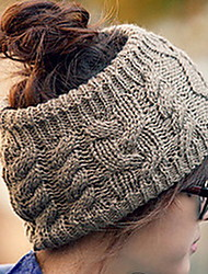 Women Fashion Lovely No Top Twist Warm Knitted Cap