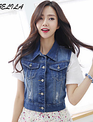 Women's  Short Jeans Vest Coat