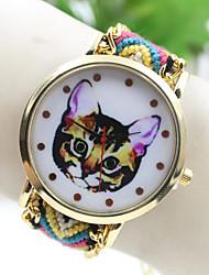 Руководство кошка национальной переплетения юго стиль Корея DIY часы женской моды