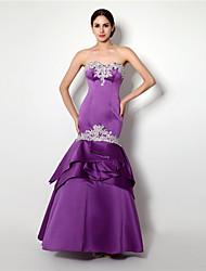 Formal Evening Dress - Lilac Trumpet/Mermaid Sweetheart Floor-length Satin