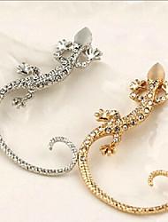 Ear Cuffs Alloy Simulated Diamond Statement Jewelry Gold Silver Jewelry 2pcs