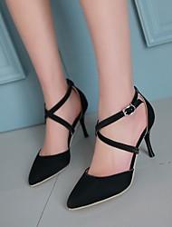 Scarpe Donna - Scarpe col tacco - Ufficio e lavoro / Formale - Tacchi / A punta - A stiletto - Finta pelle -Nero / Blu / Rosa / Rosso /