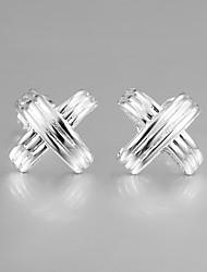 mais quente da forma italy s929 prata banhado brincos para senhora jóias declaração multa para as mulheres