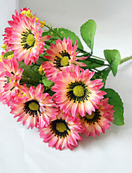 High Quality Artificial Flower Bright Color Chrysanthemum Silk Flower for Wedding and Decorative