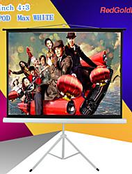 redgoldleaf 84 pulgadas pantalla 4: 3 proyector portátil con soporte