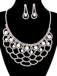 jóias de cobre prata moda longa queda totalmente strass set 22