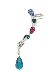 Druppel oorbellen Oor manchetten Luxe Sieraden Acryl Strass imitatie Diamond Legering Drop Sieraden VoorBruiloft Feest Dagelijks Causaal