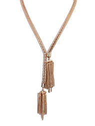 European Style Fashion Simple Magnetic Hollow Tassel Vintage Alloy Chain Necklace
