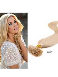 1pc/lot Brazilain Hair Keratin Hair Extension Nail Tip Hair Pre-Bonded Hair Extensions Straight Hair 1g/strand 100g/pack