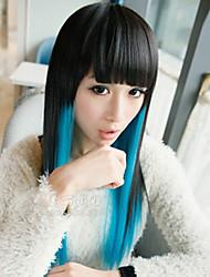 pelucas dobles de color para las mujeres femeninas cenicienta cosplay pelucas del pelo del partido peluca barato