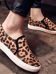 Flach - 0-3cm - Damenschuhe - Flache Schuhe ( Polyester , Schwarz/Grau/Leopard/Wein )