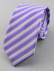 Cravates (Bleu cair , Polyester) Rayures/Free Form