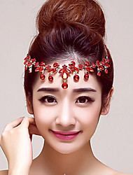Red Rhinestones Wedding/Party Headpieces/Forehead Jewelry