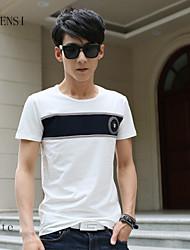 la nueva camiseta de la camiseta de los hombres del verano coreano media manga metrosexual informal camiseta de impresión japonés camiseta